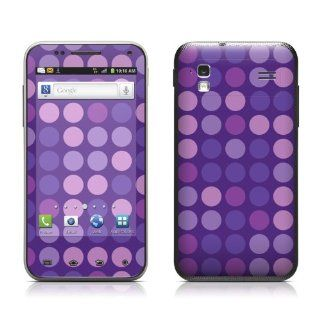 Big Dots Purple Design Protective Skin Decal Sticker for Samsung Captivate Glide SGH i927 Cell Phone Cell Phones & Accessories
