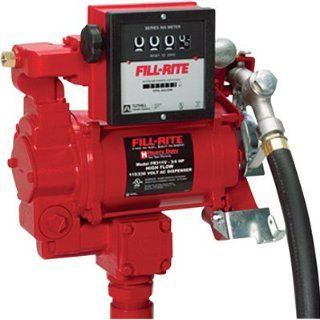 "Fill Rite FR311V 115/230V Super High Flow AC Pump, 1""x12' Hose, 1"" Manual Nozzle, Diesel Only, 901 Meter (Up to 30 GPM)"