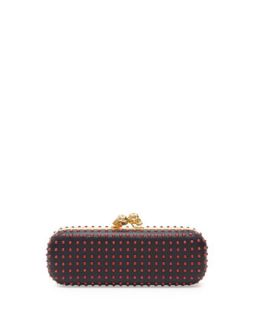 Bicolor Twin Skull Box Clutch Bag, Red/Black   Alexander McQueen