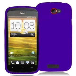 Electromaster(TM) Brand   Purple Silicone Rubber Gel Soft Skin Case Cover New for HTC One S / Ville Cell Phones & Accessories