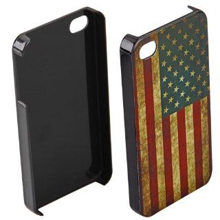 Plastic Retro USA American Flag Hard Case Cover Skin for Apple iPhone 4 4S 4G Cell Phones & Accessories