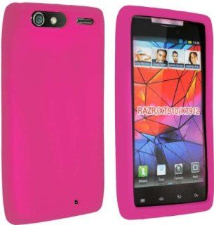 VERIZON MOTOROLA RAZR 4G XT910 XT912 HOT PINK SILICONE SKIN COVER CASE Cell Phones & Accessories