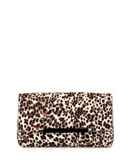 Rougissime Leopard Print Calf Hair Clutch Bag   Christian Louboutin