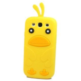 Wall  Lovely 3D Birds Silicone Soft Skin Case Cover for Samsung Galaxy S 3 III S3 I9300 Yellow Cell Phones & Accessories