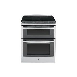 "GE PS950SFSS Profile 30"" Stainless Steel Electric Slide In Smoothtop Double Oven Range   Convection Appliances"