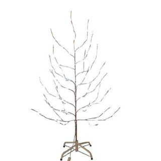 Kurt Adler 6 Feet Silver Twig Tree with LED Twinkle Lights   Christmas Trees