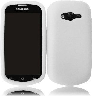 For Samsung Galaxy Reverb M950 Silicone Jelly Skin Cover Case White Cell Phones & Accessories