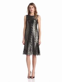Anne Klein Women's Lacquered Lace Dress Holiday Dresses