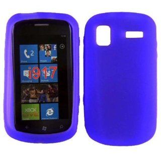 Purple Soft Silicone Gel Skin Cover Case for Samsung Focus SGH I917 Cell Phones & Accessories