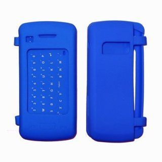 Blue Soft Silicone Gel Skin Cover Case for LG enV Touch VX11000 Cell Phones & Accessories