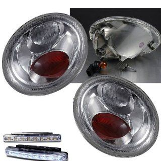 1998 2005 VW VOLKSWAGEN BEETLE REAR BRAKE CLEAR TAIL LIGHTS+LED BUMPER FOG LAMPS Automotive
