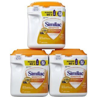 Similac Sensitive Baby Formula   Powder   34 oz   3 pk  Baby Formula  Grocery & Gourmet Food