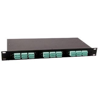 Amphenol Fiber Optics 948 99999 10212 Fiber Management System Empty 2RU, LGX Footprint, Black Panel Paint Color, 48 72 Ports Fiber Optic Connectors