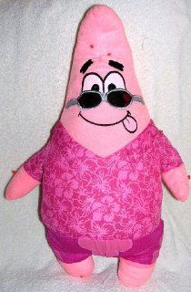 "Spongebob Squarepants 20"" Stuffed Plush Patrick Doll in Pink Flowered Shirt and Shorts Toys & Games"