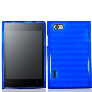 Blue Soft TPU Skin Gel Cover Case For LG Intuition / Optimus Vu VS950 Cell Phones & Accessories