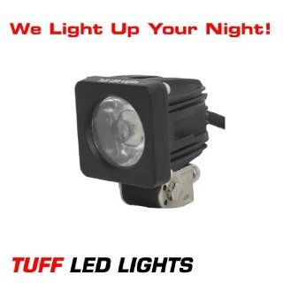 "Tuff LED Lights 2"" Inch Square 10 Watt Linkable LED Work Light 950 Lumens   Atv, Utv, Off Road Jeep 4x4 E Series Polaris Razor, Yamaha Rhino Automotive"