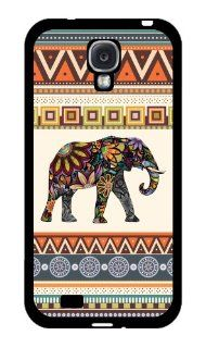 Elephant Art on Aztec Pattern Rubber Samsung Galaxy S4 case   Fits Samsung Galaxy S4 T Mobile, Verizon, AT&T, Sprint and International Cell Phones & Accessories