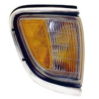 1995 1996 1997 Toyota Tacoma Pickup Truck (4WD 4 Wheel Drive) Corner Park Light Turn Signal Marker Lamp with Chrome Trim Right Passenger Side (95 96 97) Automotive