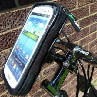 IPX4 Waterproof Cycle Bike Metal U Bolt Handlebar Mount for Samsung Galaxy S3 SGH T999 T Mobile Cell Phones & Accessories