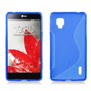 Silicone Skin Gel Cover Case LG Optimus G LS970 Eclipse, Tai Chi S Line Tpu Blue Cell Phones & Accessories