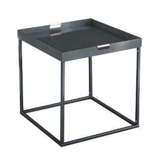 SEI Nicholas Indoor/Outdoor Butler Accent Table, Silver  End Tables  Patio, Lawn & Garden