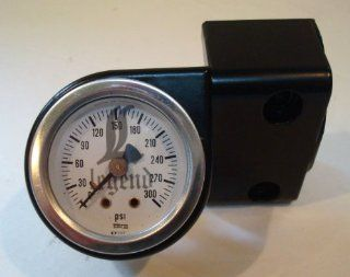 HANDLEBAR GAUGE MOUNT WITH WHITE FACE AIR GAUGE FOR LEGEND AIR PRODUCTS   BLACK Automotive