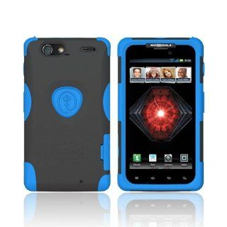 Blue Black OEM Trident Aegis Hard Silicone Case Cover Screen Protector AG XT912 BL For Motorola Droid RAZR MAXX Cell Phones & Accessories
