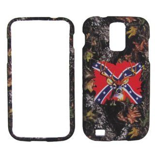 SAMSUNG GALAXY S2 T989 SGH T989 HERCULES (T MOBILE US CELLULAR) HARD RUBBERIZED CASE COVER FACEPLATE PROTECTOR SNAP ON NEW CAMO MOSSY HUNTER ONE LEAF REBEL BUCK DEER Cell Phones & Accessories