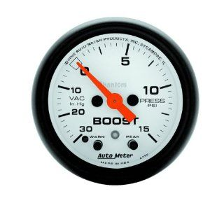 Auto Meter 5776 Phantom Electric Boost/Vacuum Gauge Automotive