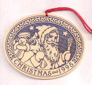 Santa Christmas Ornament by Michael Macone   1995 Spooner Creek Collectible  Decorative Hanging Ornaments
