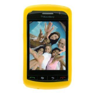 Yellow Durable Rubber Soft Silicone Skin Cover Case for Verizon RIM Blackberry Storm 9530 9500 Smarpthone Cell Phones & Accessories