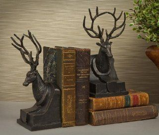 Bookends   Bronze Finished Stag Bookends   Deer Bookends   Decorative Bookends
