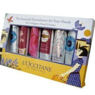 L'Occitane Indulgent Hand Cream Kit of 6 Pieces   Shea Butter, Rose Velvet, Lavender, Cherry Blossom (6 x 1 oz)  Beauty