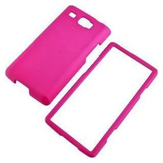 Hot Pink Rubberized Protector Case for Samsung Focus Flash i677 Cell Phones & Accessories