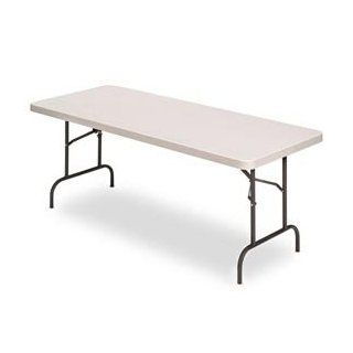 "Iceberg 65513 Indestructible 500 Series Folding Banquet Table, 500 lb Capacity, 60"" Length by 30"" Width by 29"" Height, Platinum"