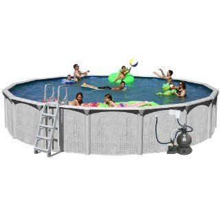 Splash Pools Above Ground Round Pool Package, 30 Feet by 52 Inch  Above Ground Swimming Pools  Patio, Lawn & Garden