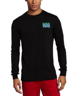 Quiksilver Men's Shakedown Long Sleeve Shirt, Black, Small at  Men�s Clothing store