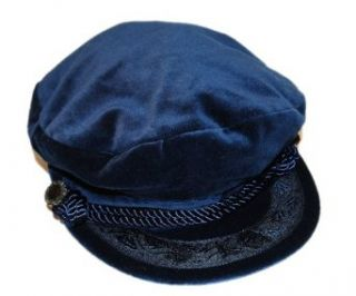 Polo Ralph Lauren Mens Womens Beret Velvet Hat Cap Navy Small/Medium Clothing