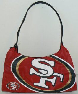 NFL Officially Licensed San Francisco 49ers Hyper Logo Hobo Style Purse Handbag  Sports Fan Bags  Sports & Outdoors