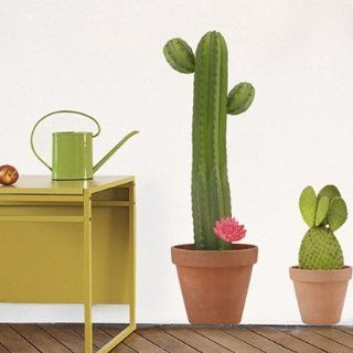 Home Stickers Giant Cactus   Wall Decor Stickers