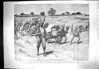 Antique Print of 1900 China Coolie Corps Peking British Soldiers War Buller Downes Aldershot