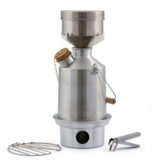 Camp Stove by Kelly Kettle. This Medium Aluminum Scout Cook Stove Complete Kit, is the perfect Camp Stove for Cooking, Hiking, Camping, Kayaking, Fishing, and Hunting. The very light and versatile Kelly Kettle Camp Stove is also ideal for Emergency Prepare