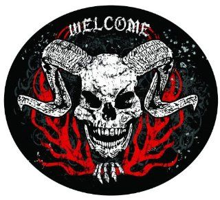 "2"" WELCOME DEMON Printed engineer grade reflective vinyl decal sticker for any smooth surface such as windows bumpers laptops or any smooth surface."