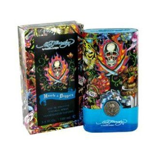 ED HARDY HEARTS & DAGGERS by Christian Audigier for MEN EDT SPRAY MINI .25 OZ (note* minis approximately 1 2 inches in height)  Eau De Toilettes  Beauty