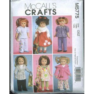 McCall's Patterns M5775 Doll Clothes For 18 Inch Doll and Toy Dog, One Size Only