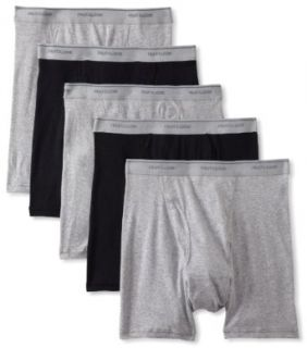 Fruit of the Loom Men's 5 Pack Boxer Brief, Black/Heather Grey, Small at  Men�s Clothing store
