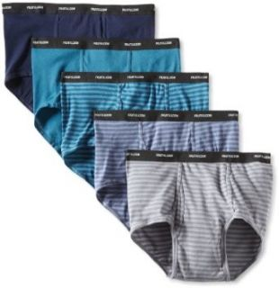 Fruit of the Loom Men's Big 5 Pack Stripe Solid Brief, Assorted, XX Large at  Men�s Clothing store Briefs Underwear
