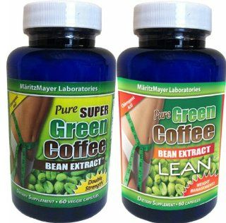 MaritzMayer Laboratories   Green Coffee Bean Extract ~ 1 Bottle 800mg Green Coffee Extract ~ 1 Bottle with 800mg Green Coffee Bean Extract Plus 100mg Raspberry Ketone (Total 2 Bottles of 60 Caps Each) Contains Some Chlorogenic Acids Health & Personal