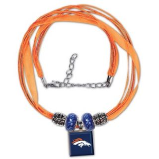 Denver Broncos Ladies Ribbon Bead Necklace