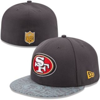 Mens New Era Graphite San Francisco 49ers 2014 NFL Draft 59FIFTY Fitted Hat